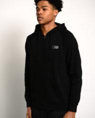 BBJ Icon Zip Hoodie Front – Black