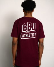BBJ Athletics Tee Back – Burgundy