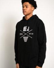 BBJ Crossover Hoodie Front – Black