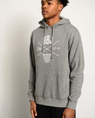 BBJ Crossover Hoodie Front – Heather