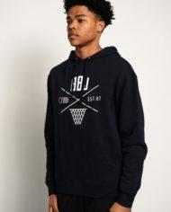 BBJ Crossover Hoodie Front – Navy