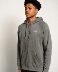 BBJ Icon Zip Hoodie Front – Heather